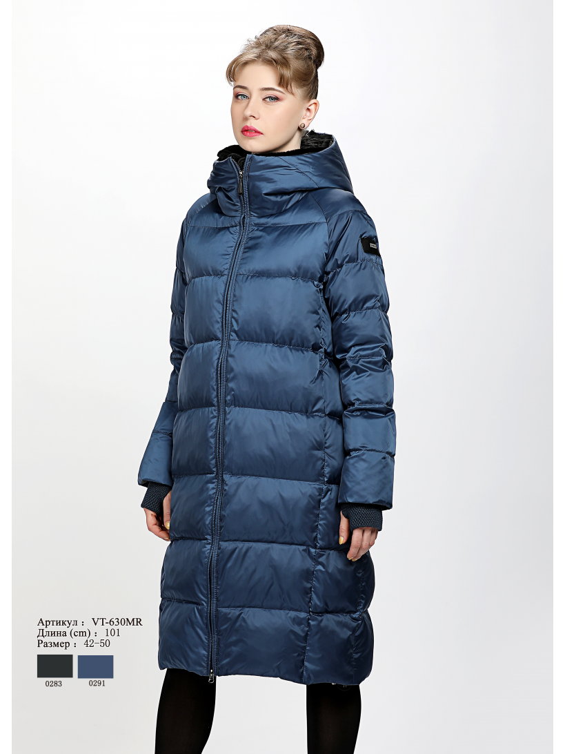 Женское пальто с капюшоном VT 630 MR