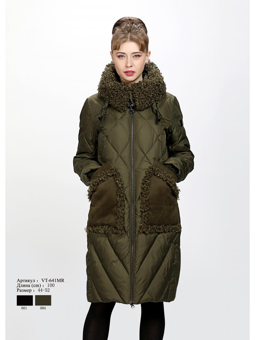 Женское пальто с капюшоном VT 641 MR