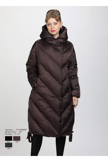 Женское пальто с капюшоном VT 648 MW