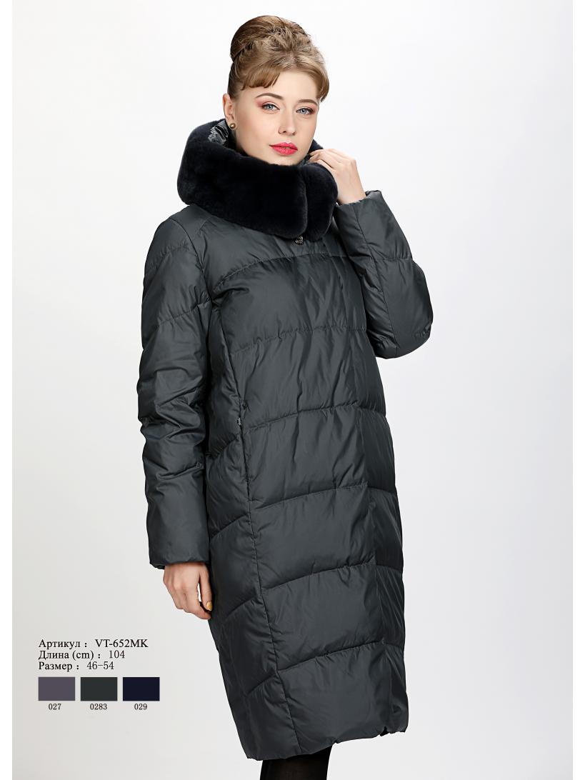 Женское пальто с капюшоном VT 652 MK