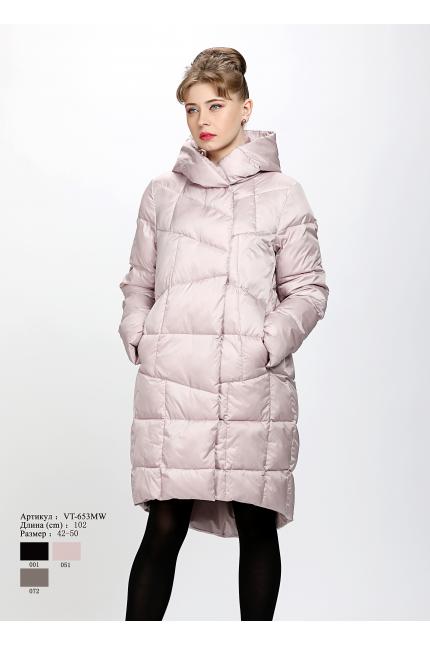 Женское пальто с капюшоном VT 653 MK