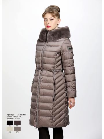 Женское пальто с капюшоном VT 660 MK