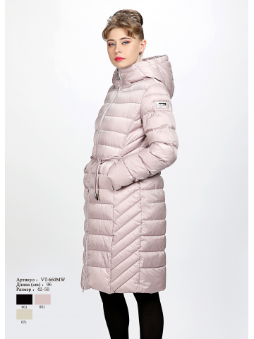 Женское пальто с капюшоном VT 660 MW