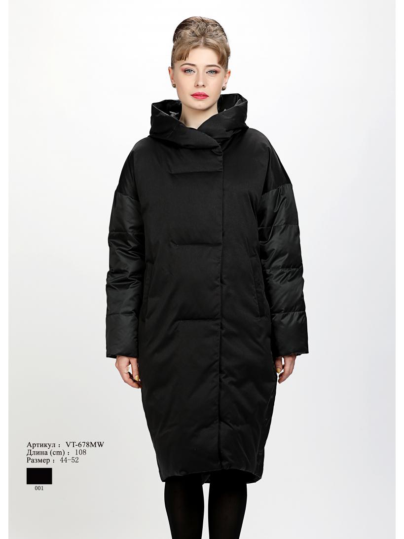 Женское пальто с капюшоном VT 678 MW