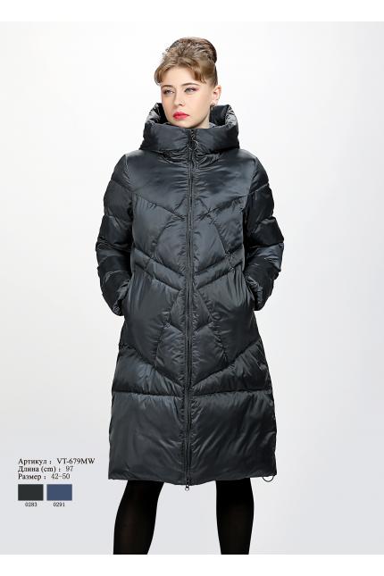 Женское пальто с капюшоном VT 679 MW