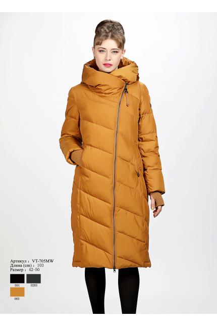 Женское пальто с капюшоном VT 705 MW