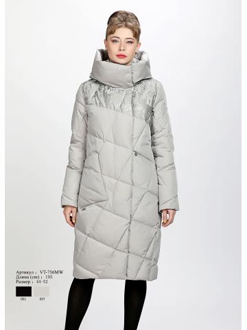 Женское пальто с капюшоном VT-756 MW