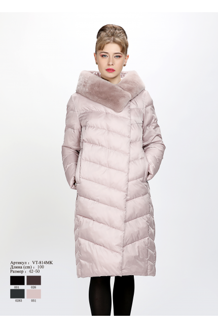 Женское пальто с капюшоном VT 814 MK